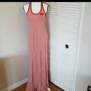 Juicy Couture Red/White Striped Maxi Dress